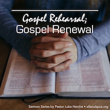 Gospel Rehearsal Gospel Renewal Album Cover, praying hands