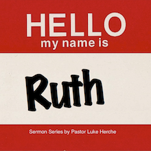 name tag with Ruth